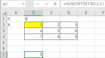 行数と列数に1を指定