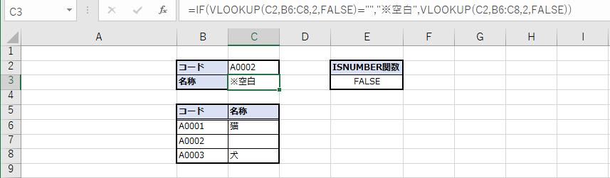 空白の場合、指定の文字を表示
