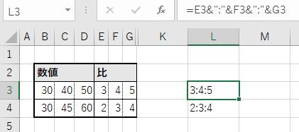 文字列結合し、:表記にした例