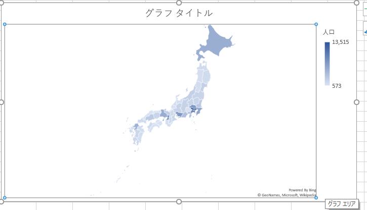 日本のみの地図