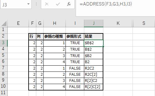 参照の種類と参照形式を変更した使用例