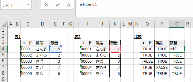 数値比較のサンプル