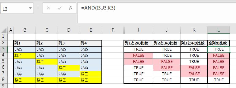 比較式を分割する例