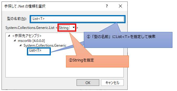 List<String>を設定する図解