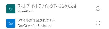 SharePointとOneDriveにファイルが作成されたとき
