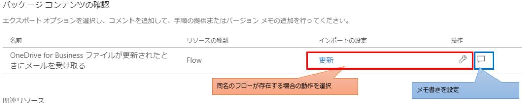 パッケージコンテンツの確認 インポートの設定とメモ書き